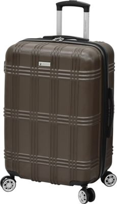 London Fog Kingsbury 25 inch Expandable Hardside Spinner Coffee - London Fog Large Rolling Luggage