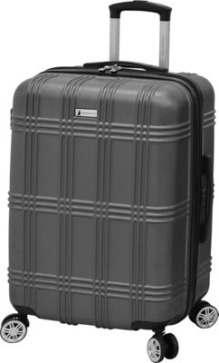 London Fog Kingsbury 25 inch Expandable Hardside Spinner Titanium - London Fog Large Rolling Luggage