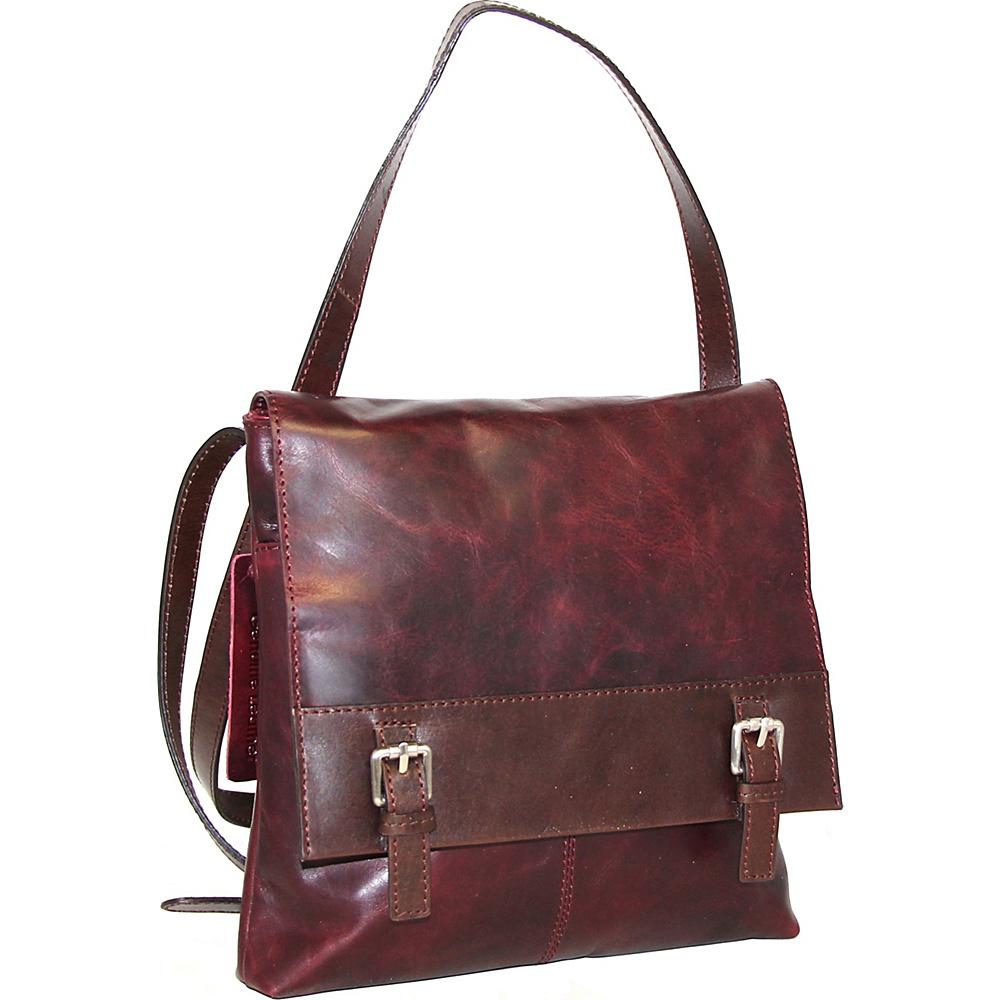 Nino Bossi Day Lily Petal Crossbody Wine - Nino Bossi Leather Handbags - Handbags, Leather Handbags