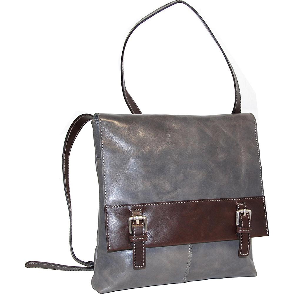 Nino Bossi Day Lily Petal Crossbody Stone - Nino Bossi Leather Handbags - Handbags, Leather Handbags