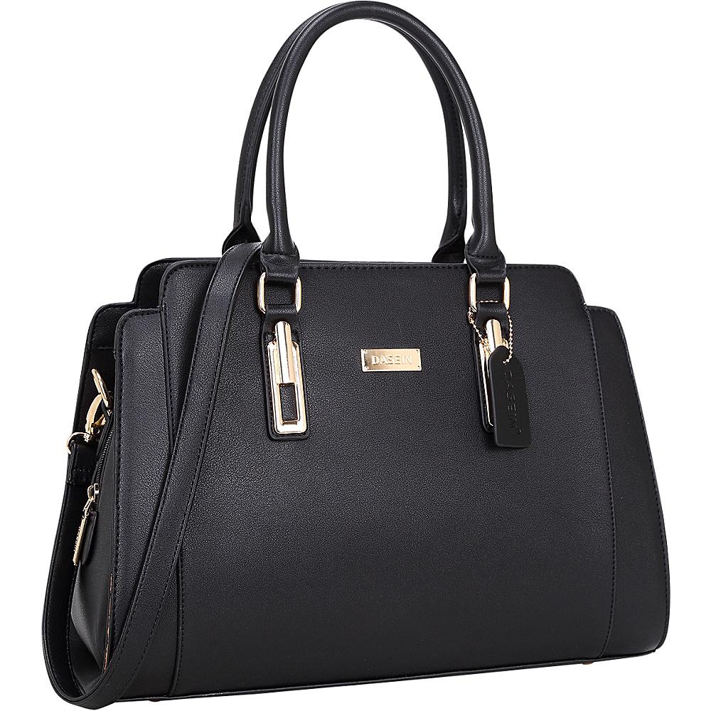 Dasein Medium Satchel Black - Dasein Manmade Handbags - Handbags, Manmade Handbags