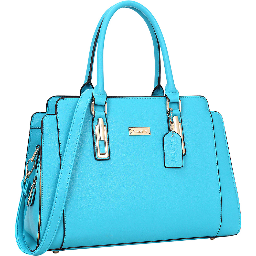 Dasein Medium Satchel Blue - Dasein Manmade Handbags - Handbags, Manmade Handbags