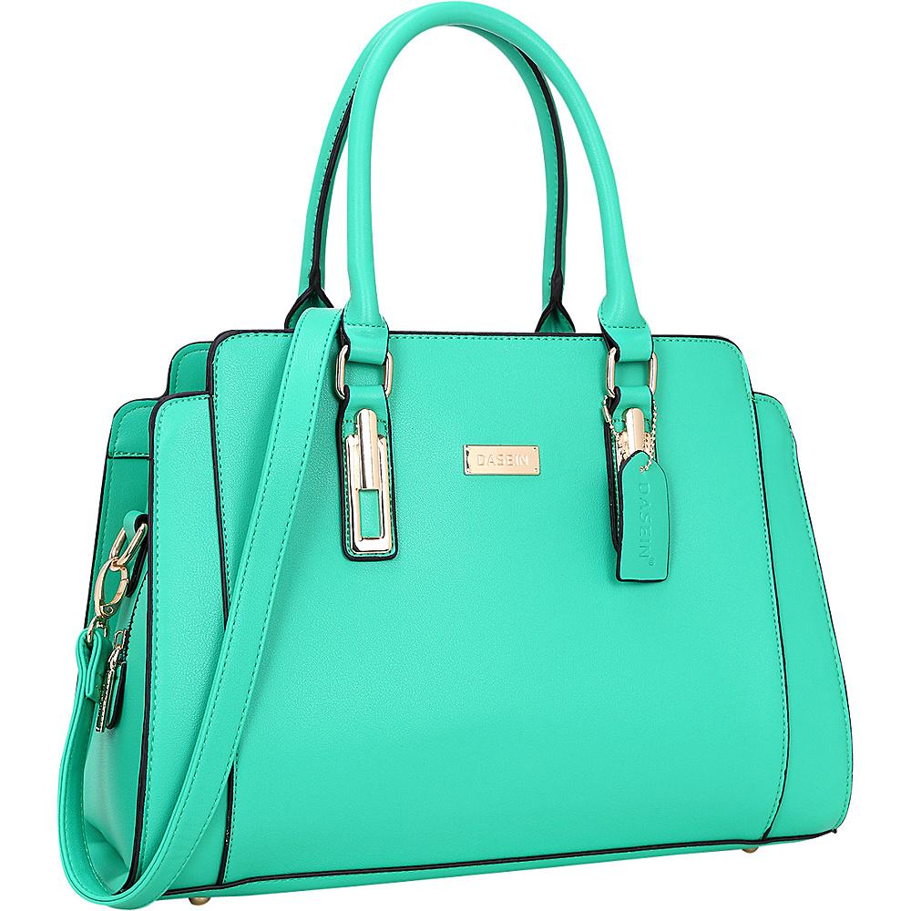 Dasein Medium Satchel Green - Dasein Manmade Handbags - Handbags, Manmade Handbags