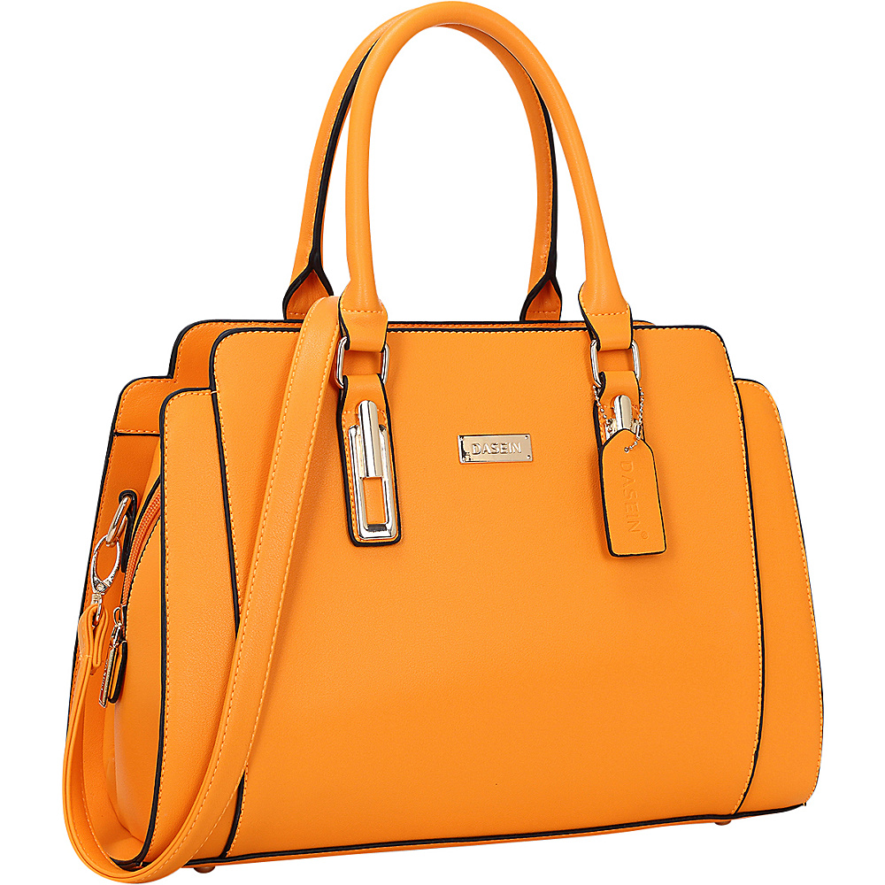 Dasein Medium Satchel Orange - Dasein Manmade Handbags - Handbags, Manmade Handbags
