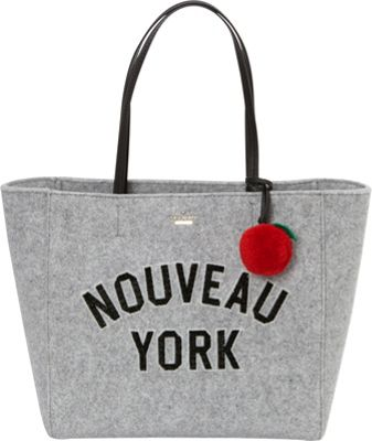 kate spade new york New York New York Hallie Tote Light Charcoal - kate spade new york Designer Handbags