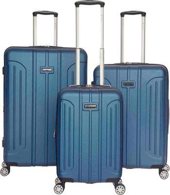 Gabbiano Viva 3 Piece Expandable Hardside Spinner Luggage Set Blue - Gabbiano Luggage Sets