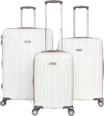 Gabbiano Viva 3 Piece Expandable Hardside Spinner Luggage Set White - Gabbiano Luggage Sets