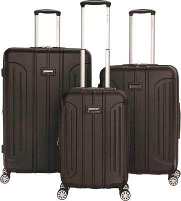 Gabbiano Viva 3 Piece Expandable Hardside Spinner Luggage Set Black - Gabbiano Luggage Sets