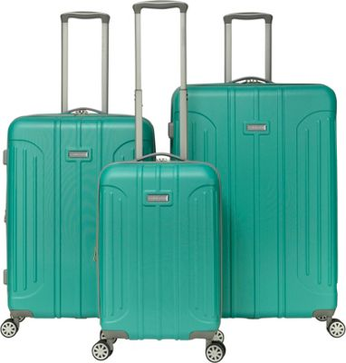 Gabbiano Viva 3 Piece Expandable Hardside Spinner Luggage Set Teal - Gabbiano Luggage Sets
