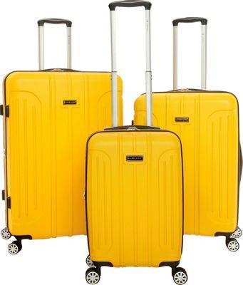 Gabbiano Viva 3 Piece Expandable Hardside Spinner Luggage Set Yellow - Gabbiano Luggage Sets
