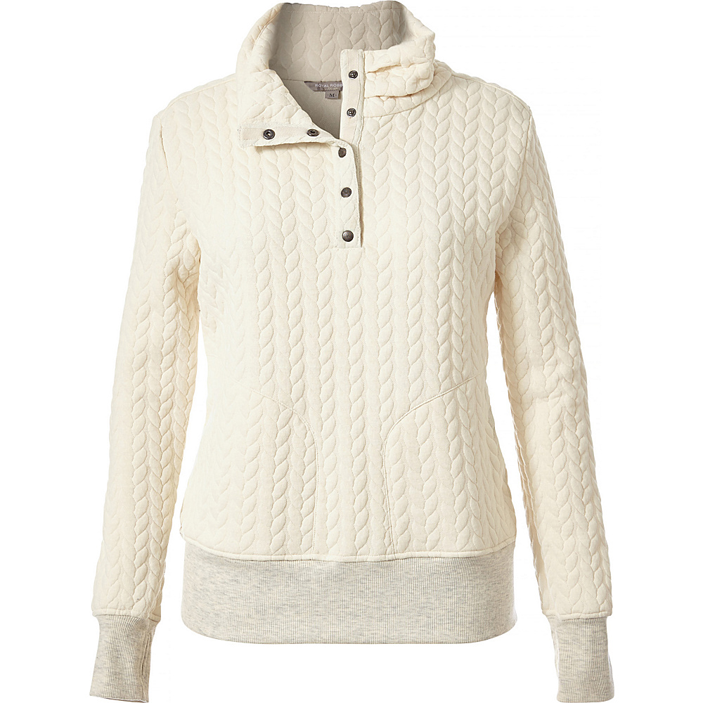 Royal Robbins Womens Cable Mountain Pullover XS - Creme - Royal Robbins Womens Apparel - Apparel & Footwear, Women's Apparel
