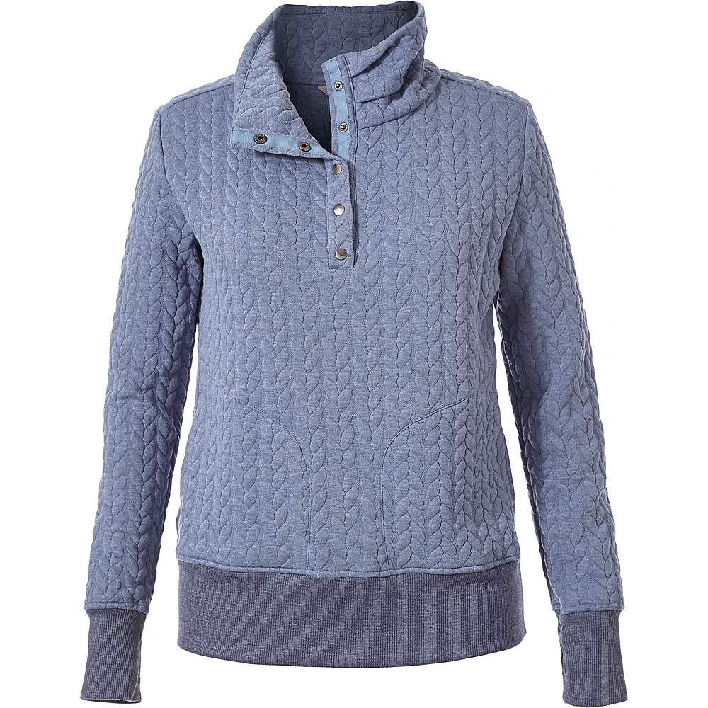 Royal Robbins Womens Cable Mountain Pullover S - Stonewash - Royal Robbins Womens Apparel - Apparel & Footwear, Women's Apparel