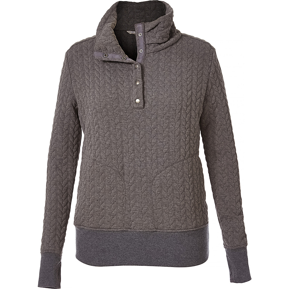 Royal Robbins Womens Cable Mountain Pullover XS - Charcoal - Royal Robbins Womens Apparel - Apparel & Footwear, Women's Apparel