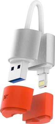 PK Paris K'ablekey 64GB USB 3.0 Flash Drive Silver, Orange - PK Paris Electronic Accessories