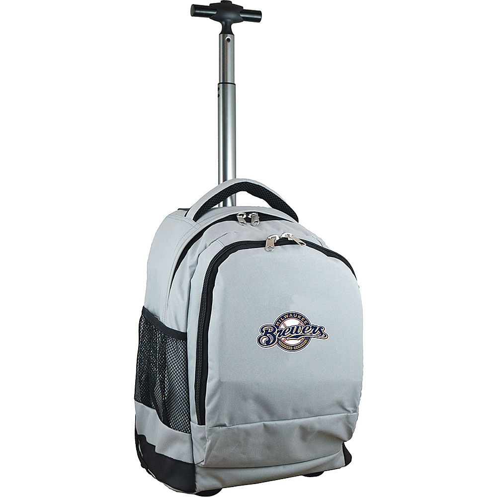 MOJO Denco MLB Premium Laptop Rolling Backpack Milwaukee Brewers - MOJO Denco Rolling Backpacks - Backpacks, Rolling Backpacks