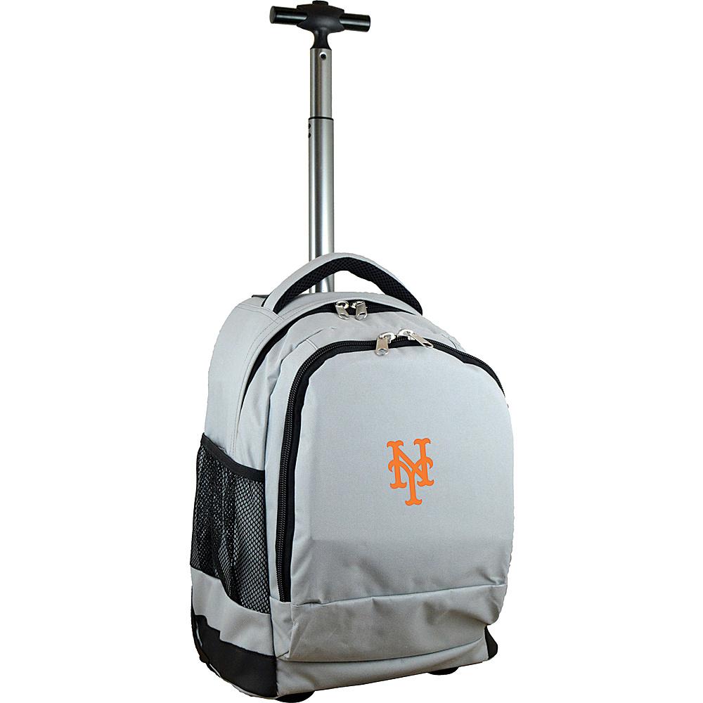 MOJO Denco MLB Premium Laptop Rolling Backpack New York Mets - MOJO Denco Rolling Backpacks - Backpacks, Rolling Backpacks