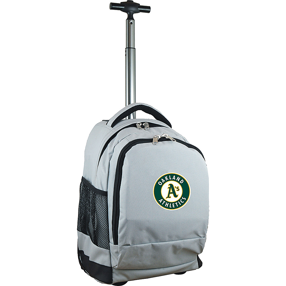 MOJO Denco MLB Premium Laptop Rolling Backpack Oakland As - MOJO Denco Rolling Backpacks - Backpacks, Rolling Backpacks