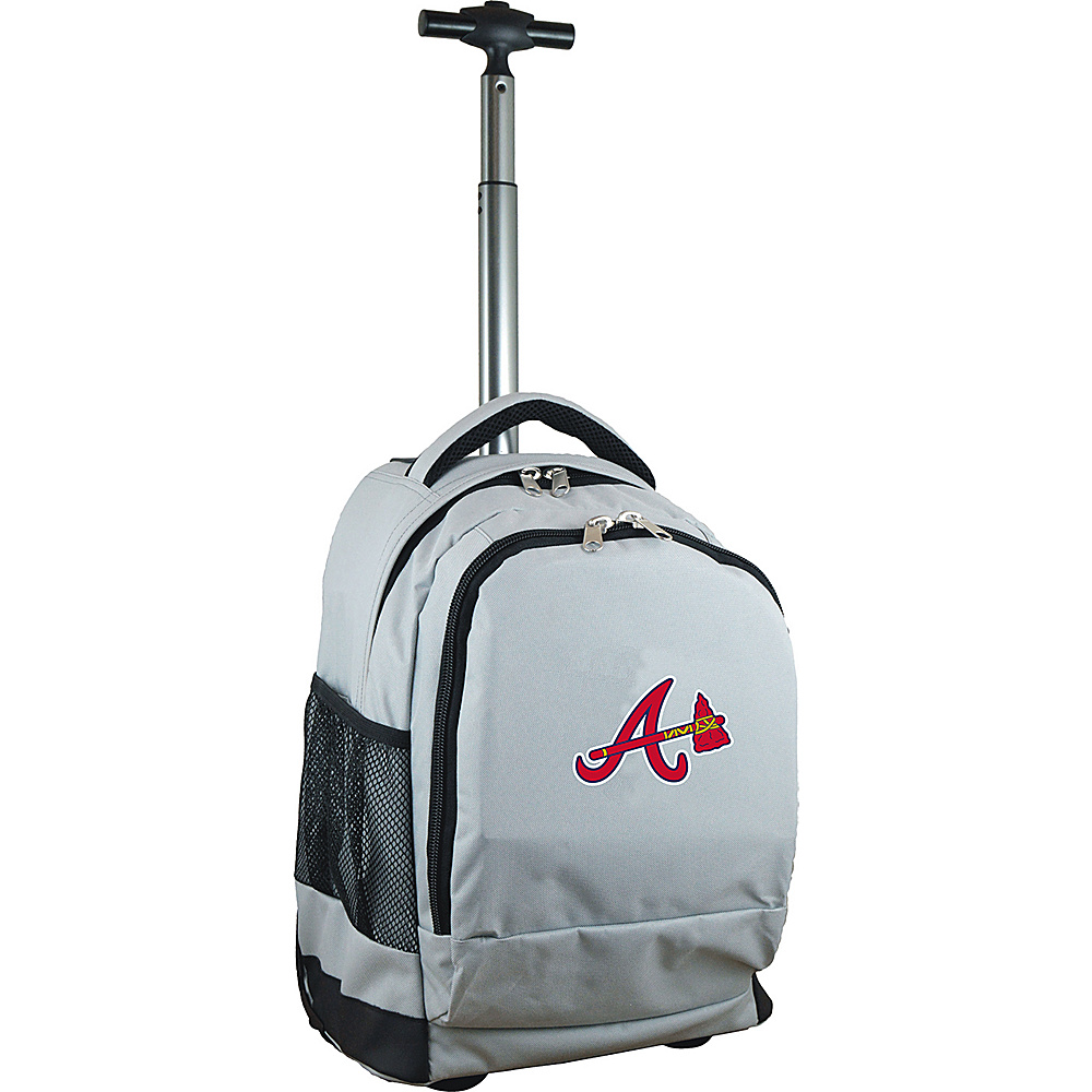 MOJO Denco MLB Premium Laptop Rolling Backpack Atlanta Braves - MOJO Denco Rolling Backpacks - Backpacks, Rolling Backpacks
