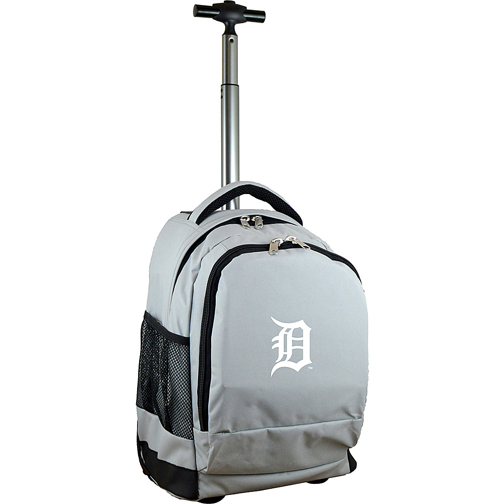 MOJO Denco MLB Premium Laptop Rolling Backpack Detroit Tigers - MOJO Denco Rolling Backpacks - Backpacks, Rolling Backpacks