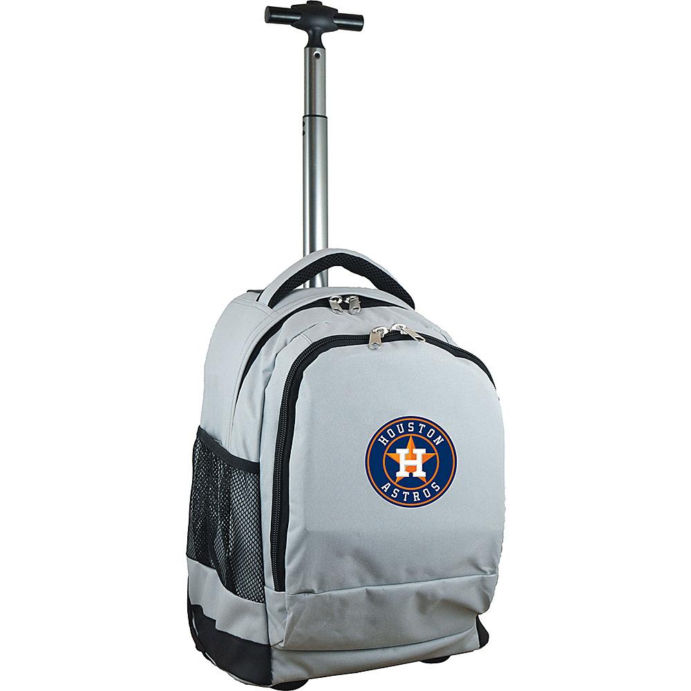 MOJO Denco MLB Premium Laptop Rolling Backpack Houston Astros - MOJO Denco Rolling Backpacks - Backpacks, Rolling Backpacks
