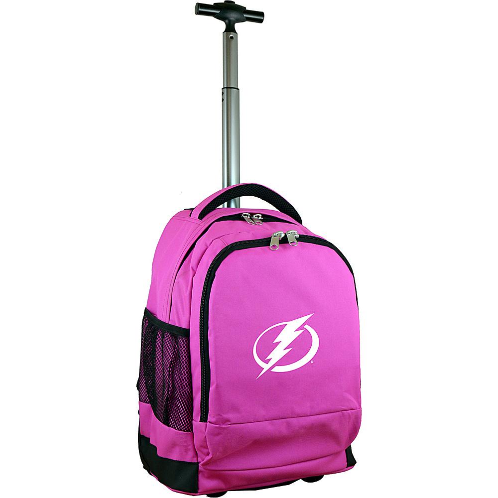 MOJO Denco NHL Premium Laptop Rolling Backpack Tampa Bay Lightning - MOJO Denco Rolling Backpacks - Backpacks, Rolling Backpacks