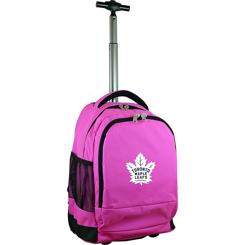 MOJO Denco NHL Premium Laptop Rolling Backpack Toronto Maple Leafs - MOJO Denco Rolling Backpacks - Backpacks, Rolling Backpacks