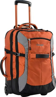 Wrangler 20 inch Upright Rolling Duffel Burnt Orange - Wrangler Travel Duffels