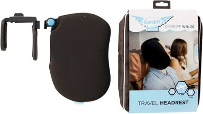 Cardiff Travel Head Rest Wings Black - Cardiff Travel Pillows & Blankets
