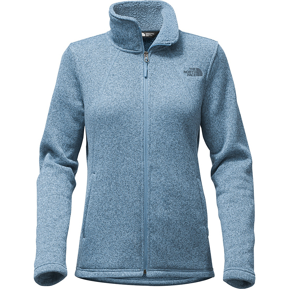 The North Face Womens Crescent Full Zip L - Provincial Blue Heather - The North Face Womens Apparel - Apparel & Footwear, Women's Apparel