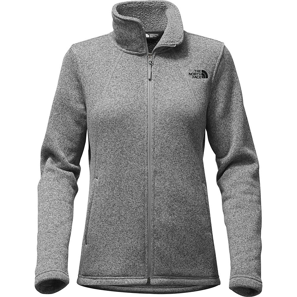 The North Face Womens Crescent Full Zip L - TNF Medium Grey Heather - The North Face Womens Apparel - Apparel & Footwear, Women's Apparel