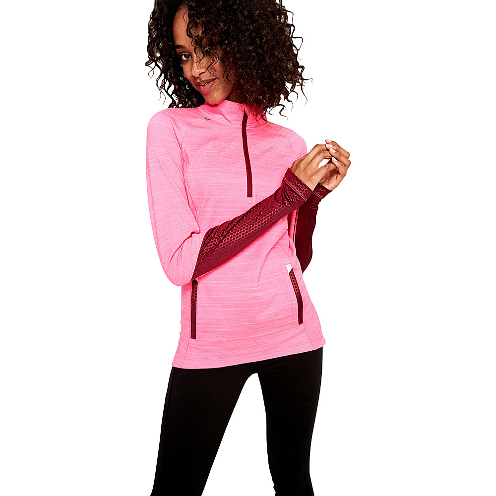 Lole Performance Top L - Hot Pink Heather - Lole Womens Apparel - Apparel & Footwear, Women's Apparel