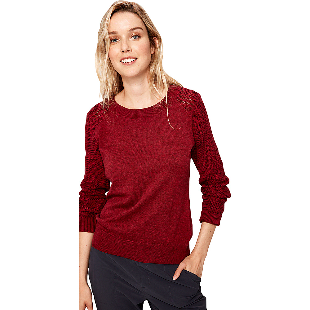 Lole Mona Sweater XL - Cabernet Heather - Lole Womens Apparel - Apparel & Footwear, Women's Apparel