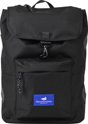 Alpine Division Rockaway Laptop Backpac Black Ripstop - Alpine Division Business & Laptop Backpacks