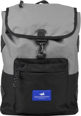 Alpine Division Rockaway Laptop Backpac Grey/Black Ripstop - Alpine Division Business & Laptop Backpacks