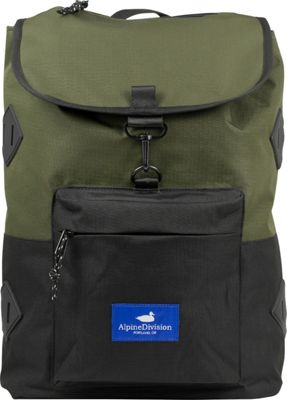 Alpine Division Rockaway Laptop Backpac Green Ripstop - Alpine Division Business & Laptop Backpacks