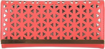 Club Rochelier Slimfold Ladies Wallet Coral/Gold - Club Rochelier Women's Wallets
