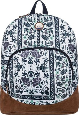 Roxy Fairness Backpack Dress Blues Square Flower - Roxy Everyday Backpacks