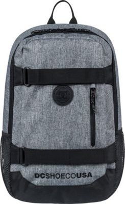 DC Shoes Men's Clocked 18L Medium Laptop Skatepack Charcoal Heather - DC Shoes Laptop Backpacks
