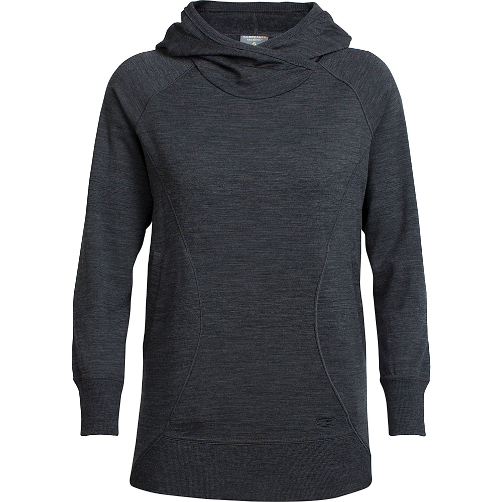 Icebreaker Womens Dia Pullover Hoody M - Jet Heather - Icebreaker Womens Apparel - Apparel & Footwear, Women's Apparel