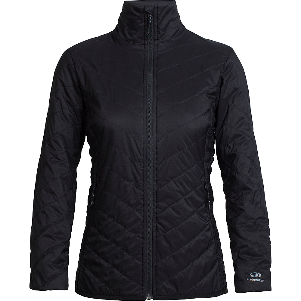 Icebreaker Womens Hyperia Lite Jacket XS - Black - Icebreaker Womens Apparel - Apparel & Footwear, Women's Apparel