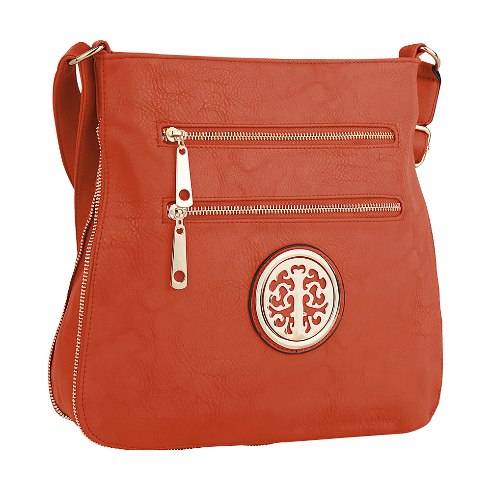 MKF Collection by Mia K. Farrow Adele Crossbody Orange - MKF Collection by Mia K. Farrow Manmade Handbags - Handbags, Manmade Handbags