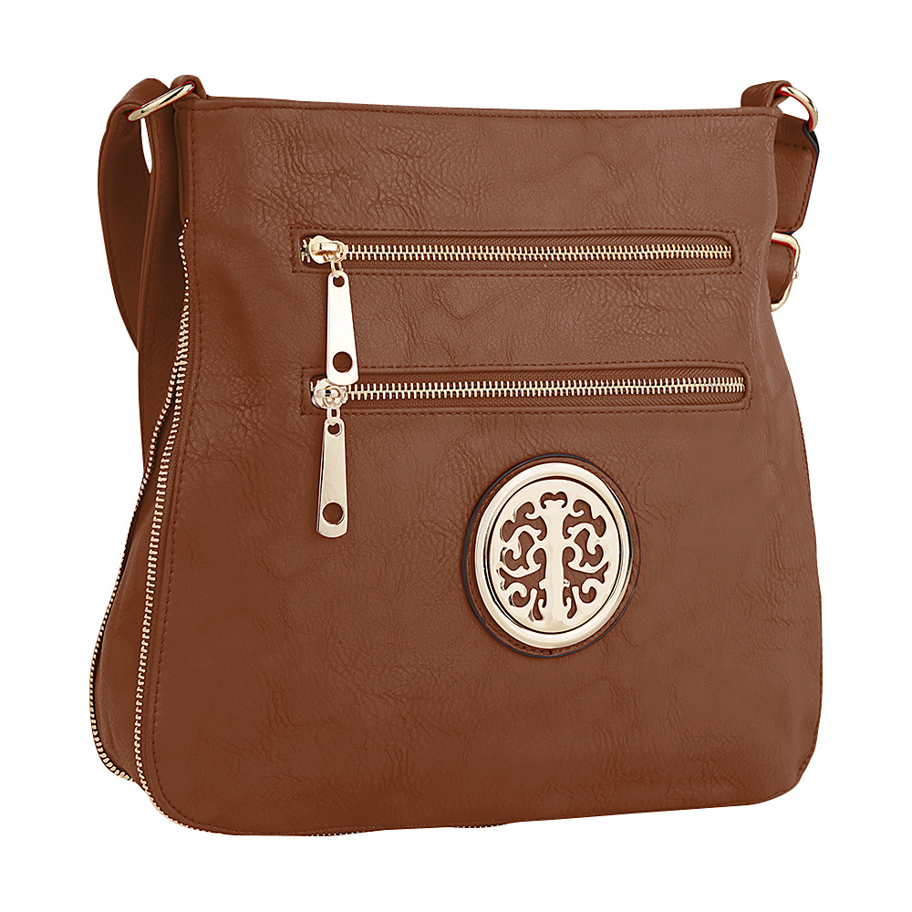 MKF Collection by Mia K. Farrow Adele Crossbody Brown - MKF Collection by Mia K. Farrow Manmade Handbags - Handbags, Manmade Handbags