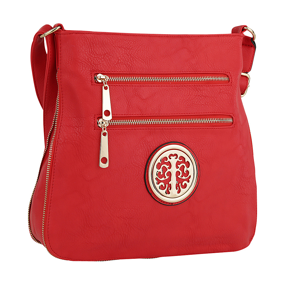 MKF Collection by Mia K. Farrow Adele Crossbody Red - MKF Collection by Mia K. Farrow Manmade Handbags - Handbags, Manmade Handbags