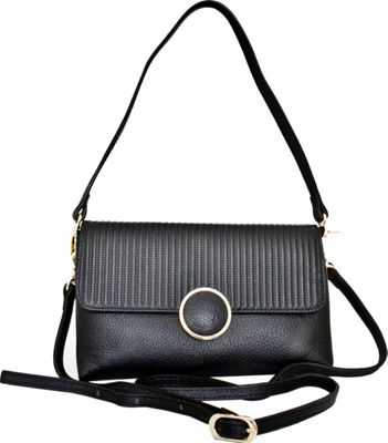 Leatherbay Zevio Shoulder Bag Black - Leatherbay Leather Handbags