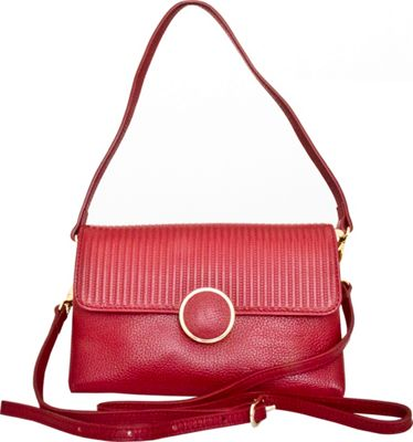 Leatherbay Zevio Shoulder Bag Dark Red - Leatherbay Leather Handbags