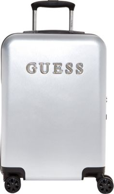 GUESS Travel Mimsy 20 inch Hardside Spinner Carry-On Luggage Silver - GUESS Travel Hardside Carry-On