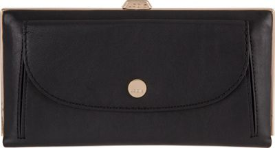 Lodis Downtown RFID Keira Clutch Wallet Black - Lodis Women's Wallets