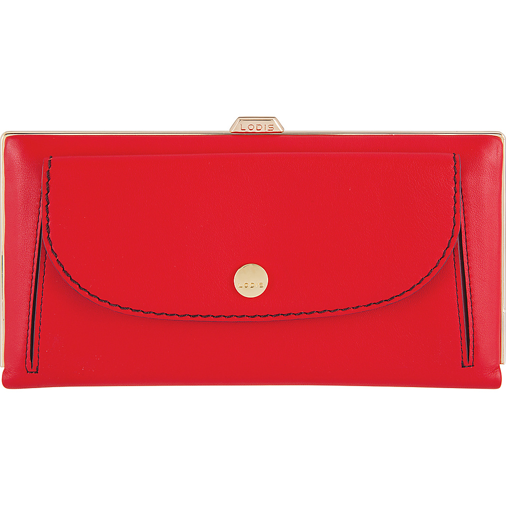 Lodis Downtown RFID Keira Clutch Wallet Red/Chianti - Lodis Womens Wallets - Women's SLG, Women's Wallets