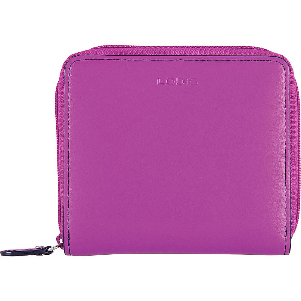 Lodis Audrey RFID Amaya Zip French Wallet Orchid/Navy - Lodis Womens Wallets - Women's SLG, Women's Wallets
