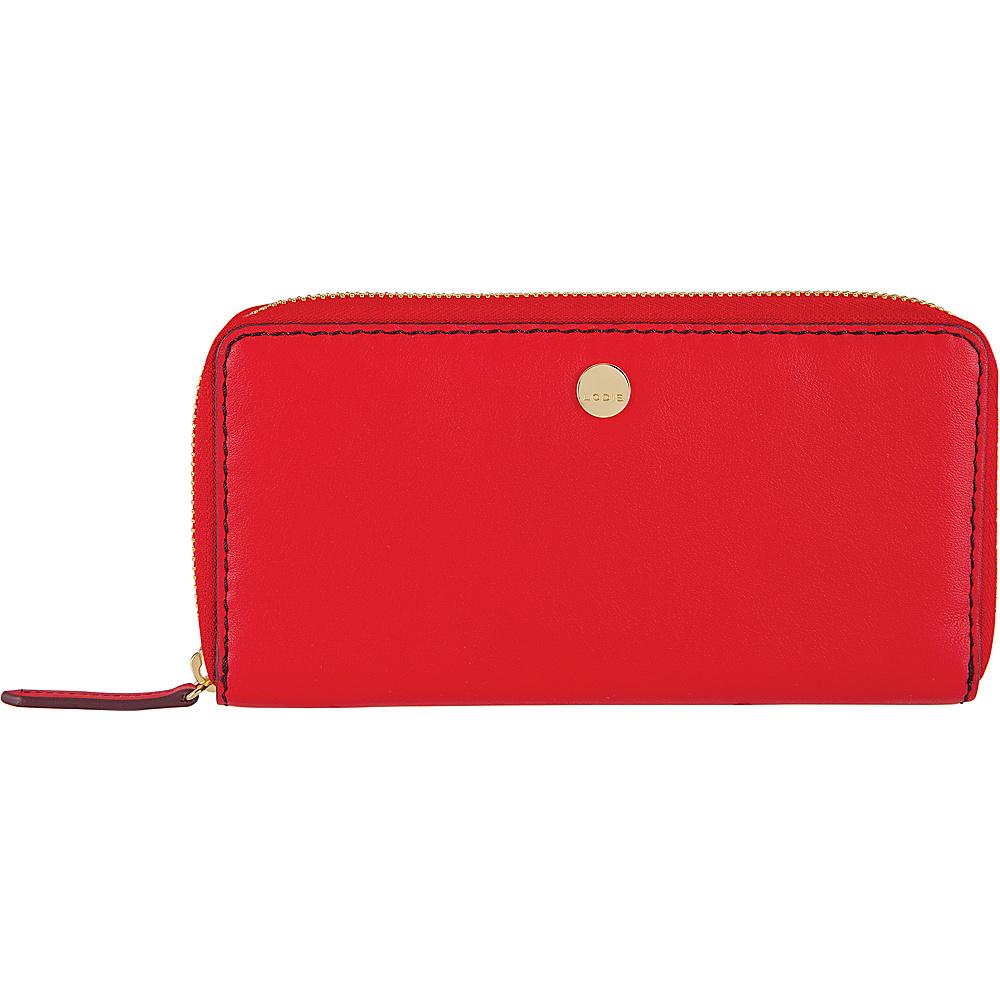 Lodis Downtown RFID Perla Zip Wallet Red/Chianti - Lodis Womens Wallets - Women's SLG, Women's Wallets